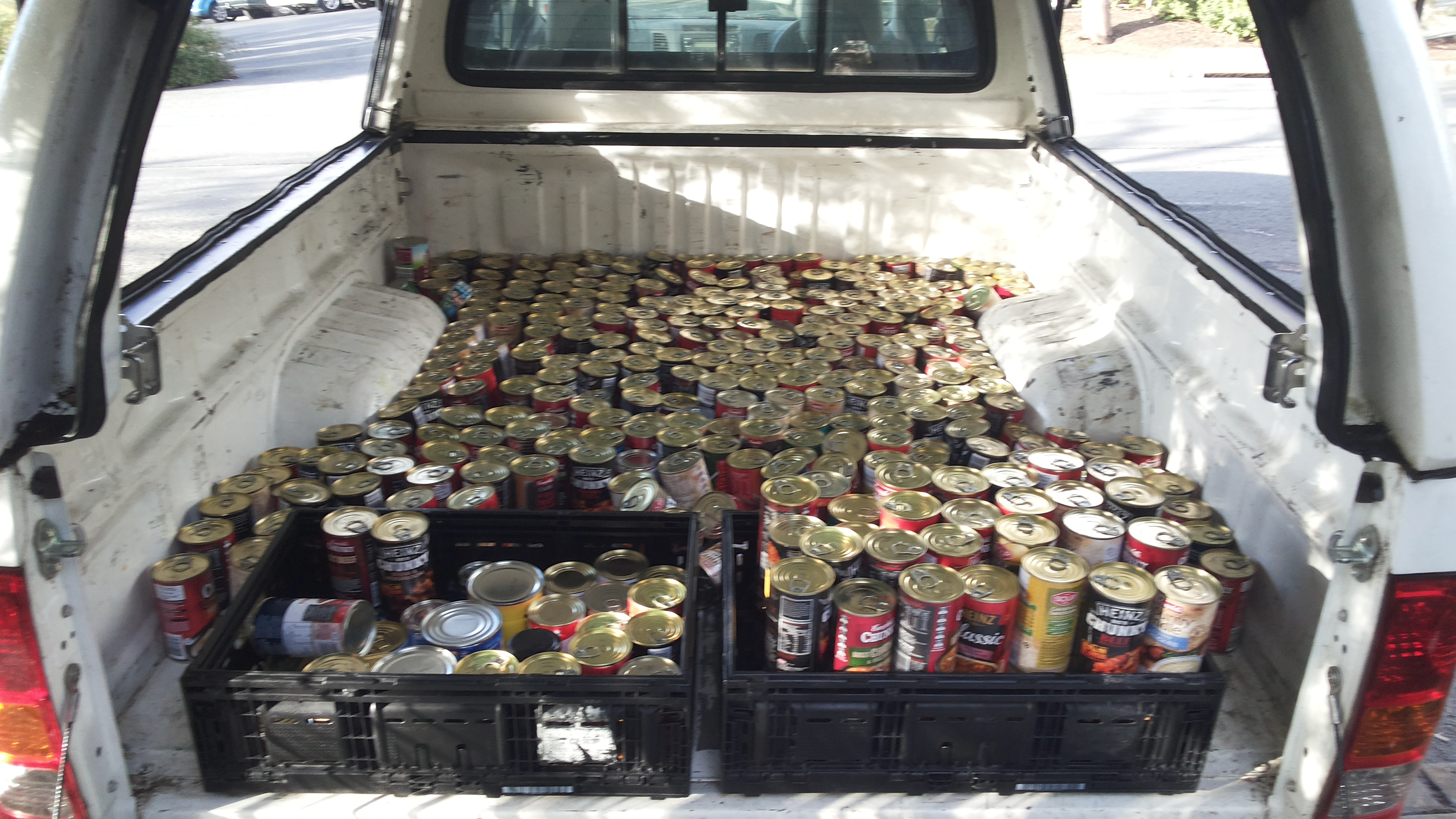 Over 400 cans!